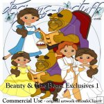 Beauty and The Beast Clipart Exclusives 1