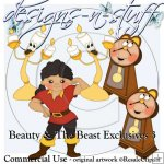 Beauty and The Beast Clipart Exclusives 3