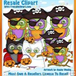 Halloween Owls Clipart Semi-Exclusives 4